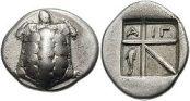 Δραχμή της Αίγινας, περ. 404 π.Χ